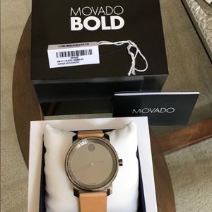 Movado leather strap watch (women's)